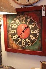 Keep calm wooden clock
