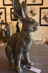 Henry grey cast resin hare