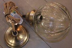Glass globe ceiling light.