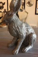 Harriet Grey cast resin hare