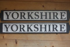 "Wooden ""YORKSHIRE"" sign"