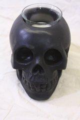 Black resin skull tea light holder