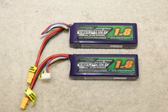 PAIR OF NANO-TECH 25-50C 1800MA BATTERIES ..  PRIORITY SHIPPING INCLUDED