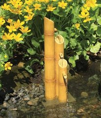 Aquascape Pouring Three-Tier Bamboo Fountain w/pump 78015