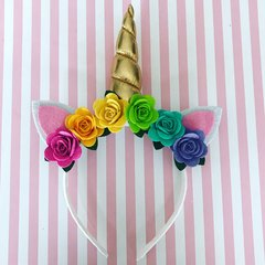 Unicorn Floral Headband