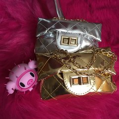 Mirror-Effect Mini Quilted Bag