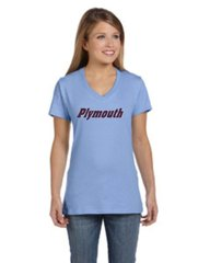 Plymouth womens v neck tee