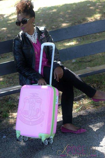 Alpha Kappa Alpha Sorority Carry On Luggage Sorority Greek Apparel