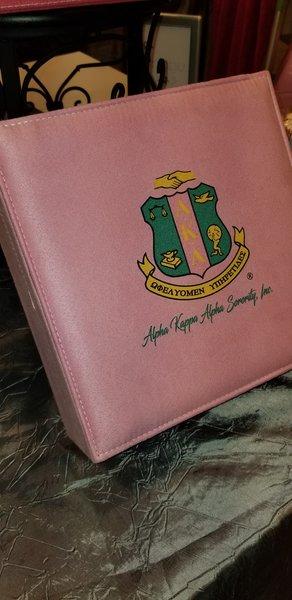 Alpha Kappa Alpha Green Pink Jewelry Box Sorority Greek