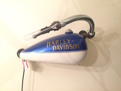 American Made Motorcycle Fuel Tank Wall Light
