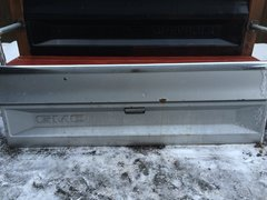 Gray and Chrome GMC Tailgate Bench