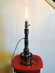 Industrial Style Candlestick Table Lamp