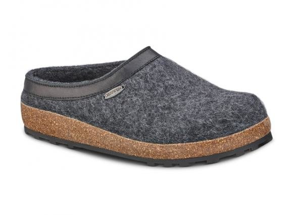 Giesswein Acadia Charcoal Men's Wool Indoor/Outdoor Slipper