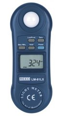 REED LM-81LX Compact Light Meter, 20,000 Lux / 2,000 Foot Candles (Fc)