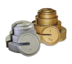 Rice Lake ASTM Class 6 20-100lb/10-20kg Cast Iron Calibration Weights - Slotted Interlocking and Hanger Weights