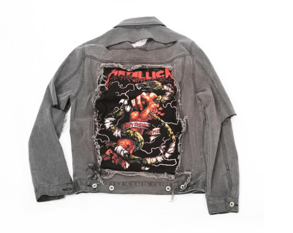 METALICA BAND Custom Denim Jean Jackets