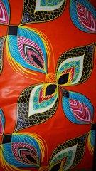 Orange Flower African Fabric