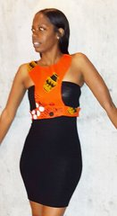 African Fabric Strap Vest