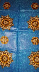 Brown and Blue African Fabric