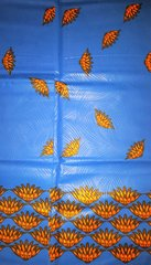 Blue and Orange African Fabric