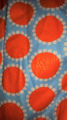 Orange and White Dots African Fabric