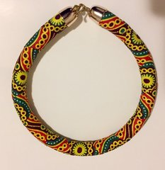 Adriel African Fabric Necklace