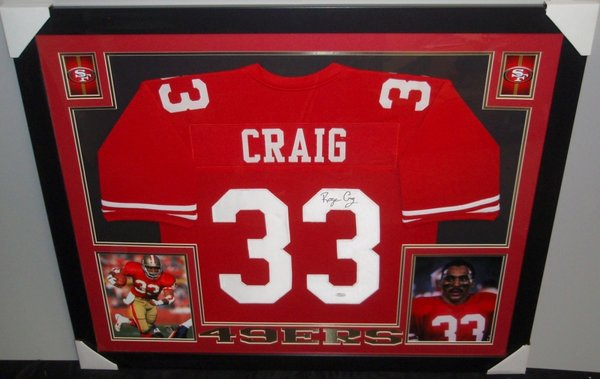 Roger Craig Autographed San Francisco 49ers Custom Framed Jersey ...