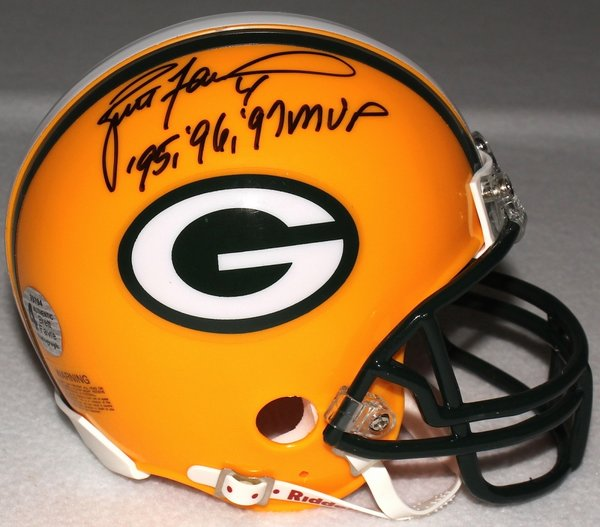 Brett Favre Autographed Green Bay Packers Mini Helmet