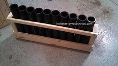 10 Tube consumer mortar rack w/HDPE tubes