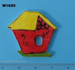 Bird House Handmade Mosaic Tiles M1695