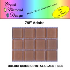 "12 - 7/8"" Adobe Crystal Glass Mosaic Tiles for your Mosaic Designs ABOWH"