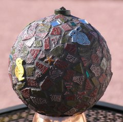 "6"" Animals in Brown - Handmade Mosaic Gazing Ball For Your HOME G208"
