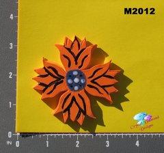 Orange Flower Handmade Ceramic Mosaic Tiles M2012