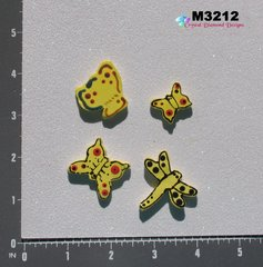 3 Butterflies & Dragonfly Kiln Fired Hand Paint Handmade Mosaic Ceramic Tiles for your Mosaic Projects M3212