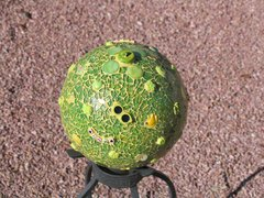 """10"""" Gazing Ball Sphere Made with all Jewelry, Glass Mosaic for your Yard G245"""
