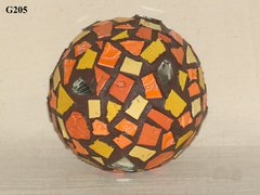 "4 ""Gazing Ball Sphere with Handmade Tiles Mosaic Great for your Yard G205"