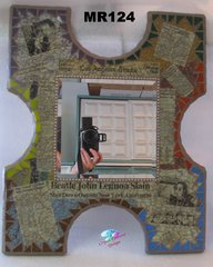 LA NEW STORY MOSAIC WALL MIRROR, HANDMADE with a lot of BEAUTIFUL THINGS MR124