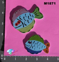 Assorted Colored Fish Handmade Mosaic Tiles M1871