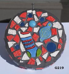 Christmas Circle Mosaic Handmade Gazing Ball for your Home inside or out G219
