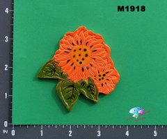 Orange Flower Handmade Mosaic Tiles M1918