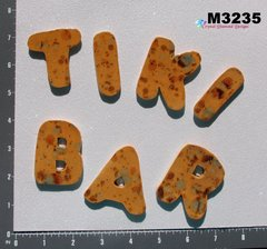 Tiki Bar Letters Handmade Mosaic Ceramic Tiles for your Projects M3235