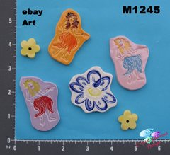 HAWAIIAN GIRL - HANDMADE, CERAMIC MOSAIC TILES M1245