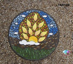 Sun Burst Table Top Handmade Mosaic  for your Home TAB102 ( Top Only )