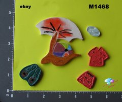 Going to the Beach - HANDMADE, CERAMIC MOSAIC TILE M1468