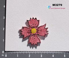 Rose Flower Small  Handmade Mosaic Tiles for your Projects M3279