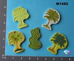 Palm Trees and Cactus Handmade Mosaic Ceramic Tiles for your Projects M1482