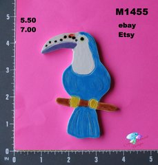 Toucan  Small Handmade Mosaic Ceramic Tiles M1455