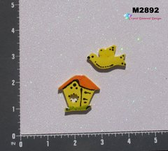Bird and Bird House Handmade Mosaic Ceramic Tiles M2892