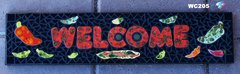 Pepper Mosaic Handmade House Welcome Sign would Look Great on your Wall - WC205