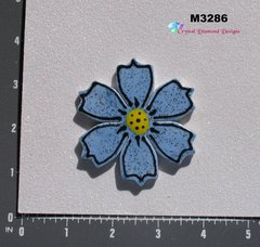 Blue Shimmer Flower Small  Handmade Mosaic Tiles for your Projects M3286